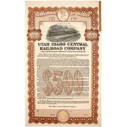 Utah Idaho Central Railroad Bond