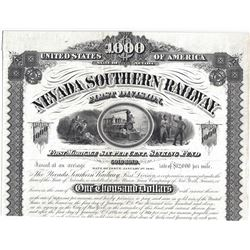 Very rare, possibly unique, bond for the Nevada Southern Railway