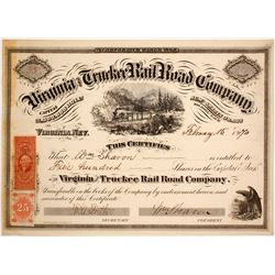 Virginia and Truckee Rail Road Stock  with Wm Sharon Sig