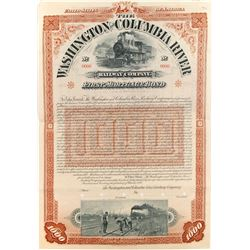 Washington and Columbia River Railway Bond