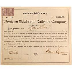 Western Oklahoma Railroad Stock