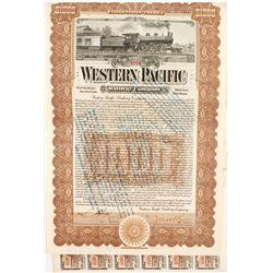 Western Pacific Railway Bond