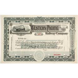 Western Pacific Railway Stock, Specimen