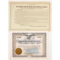 Wichita Railroad Stock and Bond