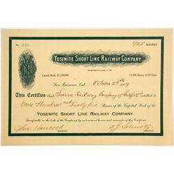 Yosemite Short Line Railway Co Stock