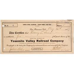 Yosemite Valley Railroad Stock, #4