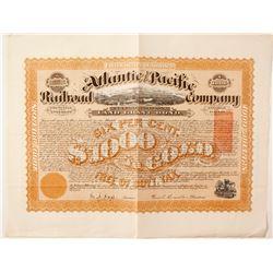 Atlantic and Pacific Rail Road  Company bond