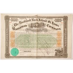Rockford, Rock Island & St. Louis Rail Road bond