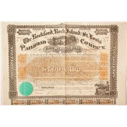 Rockford, Rock Island and St. Louis, Railroad Company bond