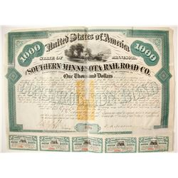 Southern Minnesota Railroad Bond
