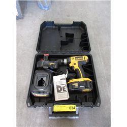 DeWalt 18volt Cordless Drill - 2 Batteries