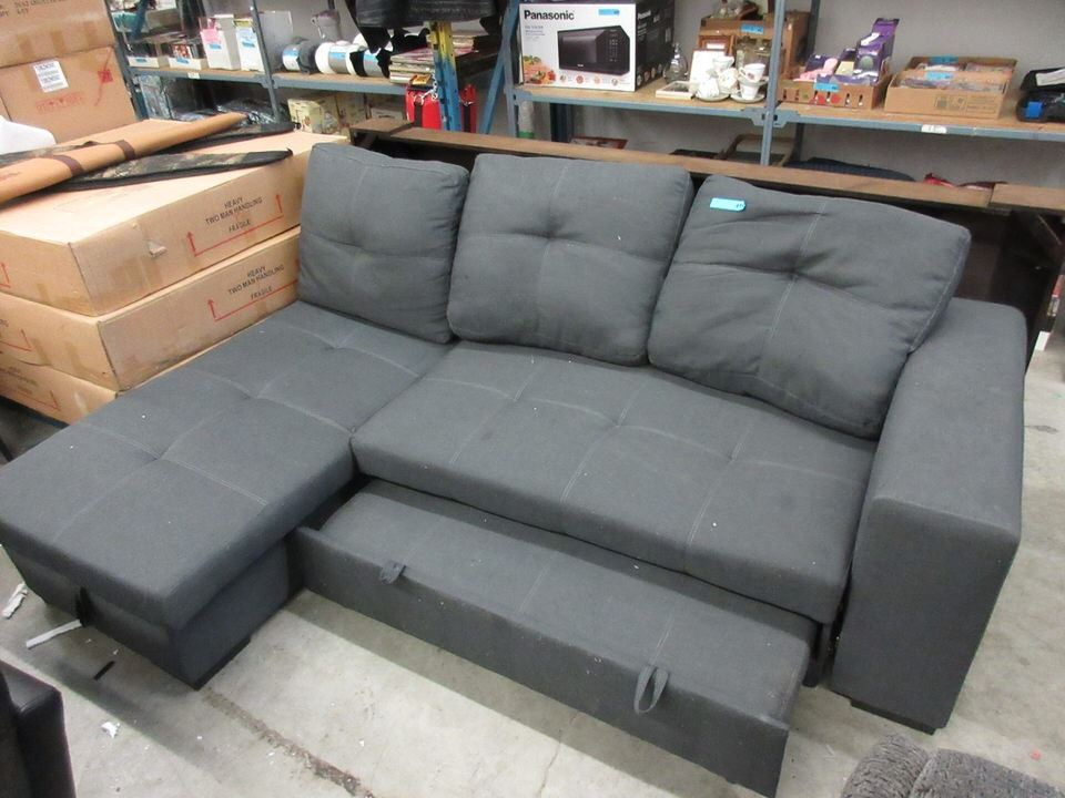 Sofa Bed with Storage Under the Chaise End