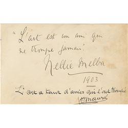 Nellie Melba and Victor Maurel