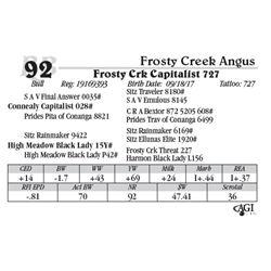 Lot 92 - Frosty Crk Capitalist 727