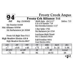 Lot 94 - Frosty Crk Alliance 715