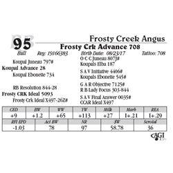 Lot 95 - Frosty Crk Advance 708