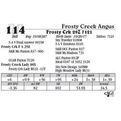 Lot 114 - Frosty Crk 29Z 7121