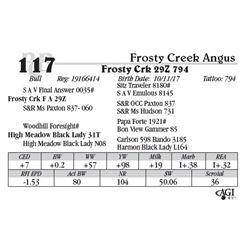 Lot 117 - Frosty Crk 29Z 794