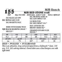 Lot 155 - MJB RED STONE 812E