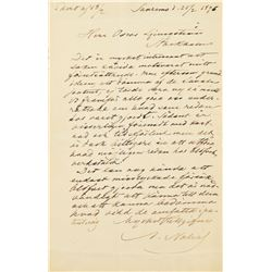 Alfred Nobel Autograph Letter Signed