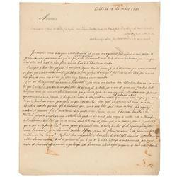 Johann II Bernoulli Autograph Letter Signed
