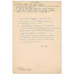 Max Born Autograph Manuscript Signed
