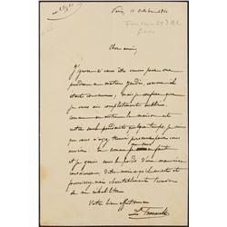 Leon Foucault Autograph Letter Signed