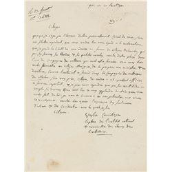 Pierre-Simon Laplace Autograph Letter Signed