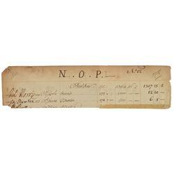 Isaac Newton Document Signed