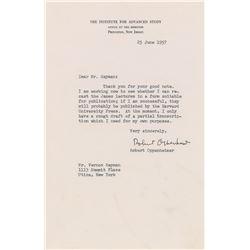 Robert Oppenheimer Typed Letter Signed