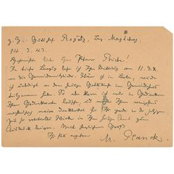 Max Planck Autograph Letter Signed