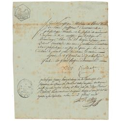 Marie François Xavier Bichat Document Signed