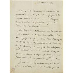Jean-Nicolas Corvisart Autograph Letter Signed