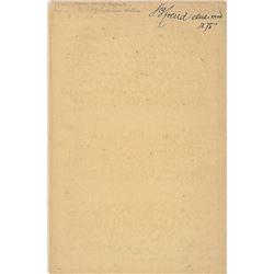 Sigmund Freud Signature
