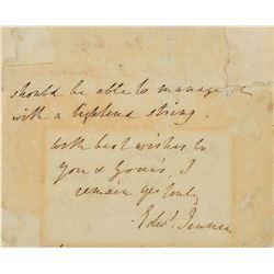 Edward Jenner Autograph Letter Signed