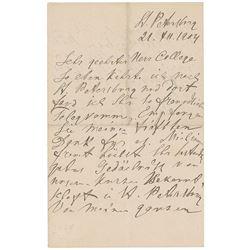 Ivan Pavlov Autograph Letter Signed