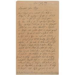 Jan Evangelista Purkyne Autograph Letter Signed
