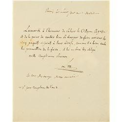 Jean-Baptiste Lamarck Autograph Letter Signed