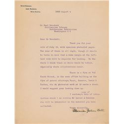 Alexander Graham Bell Typed Letter Signed