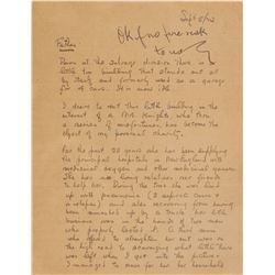 Thomas Edison Letter Signed