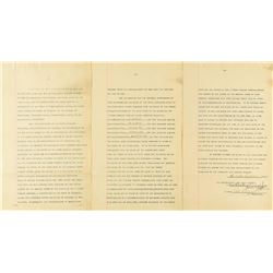 George Westinghouse Document Signed