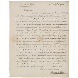 James Watt Autograph Letter Signed