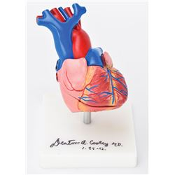 Denton Cooley Signed Heart Model