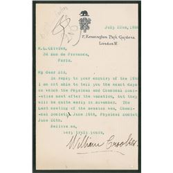 William Crookes Typed Letter Signed