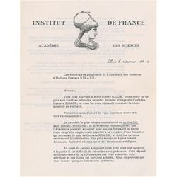 Louis de Broglie Typed Letter Signed