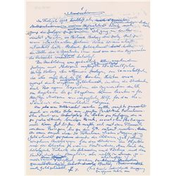 Karl von Frisch Handwritten Manuscript and Autograph Letter Signed