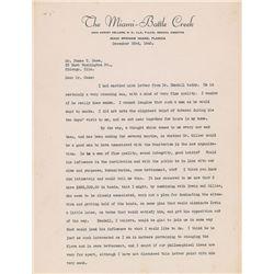 John Harvey Kellogg Typed Letter Signed