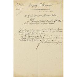 Bernard Germain de Lacepede Document Signed