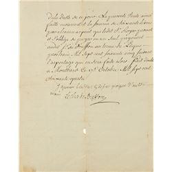 Georges-Louis Leclerc, Comte de Buffon Letter Signed