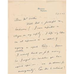 Oliver Lodge Autograph Letter Signed